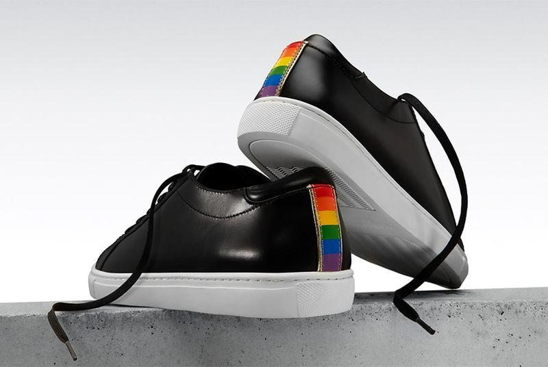 9d1d5a546e35 Rainbow-Motif Pride Sneakers   pride kam