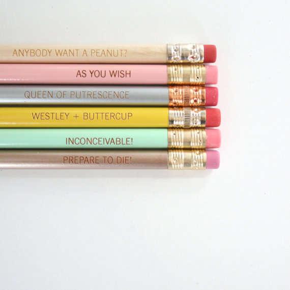 Girly Literary School Supplies