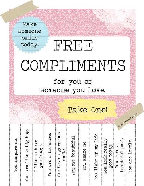 Printable Compliments