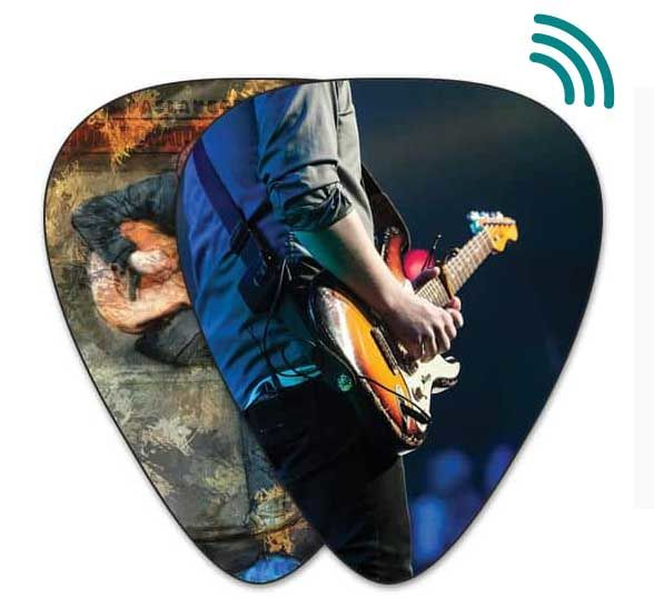 NFC-Enabled Guitar Picks