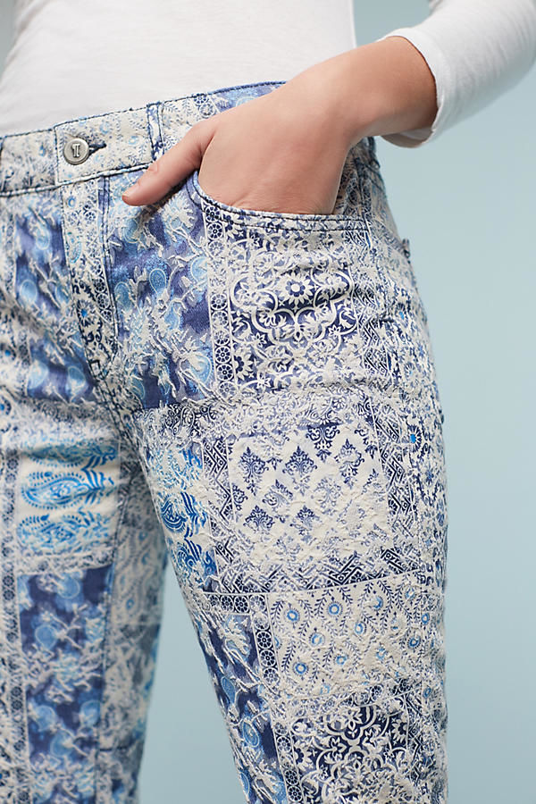 Ornately Printed Denim