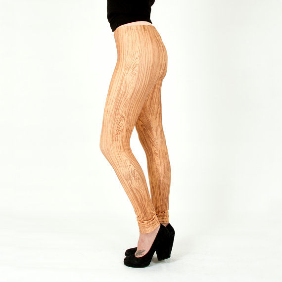 Faux Wood Leggings