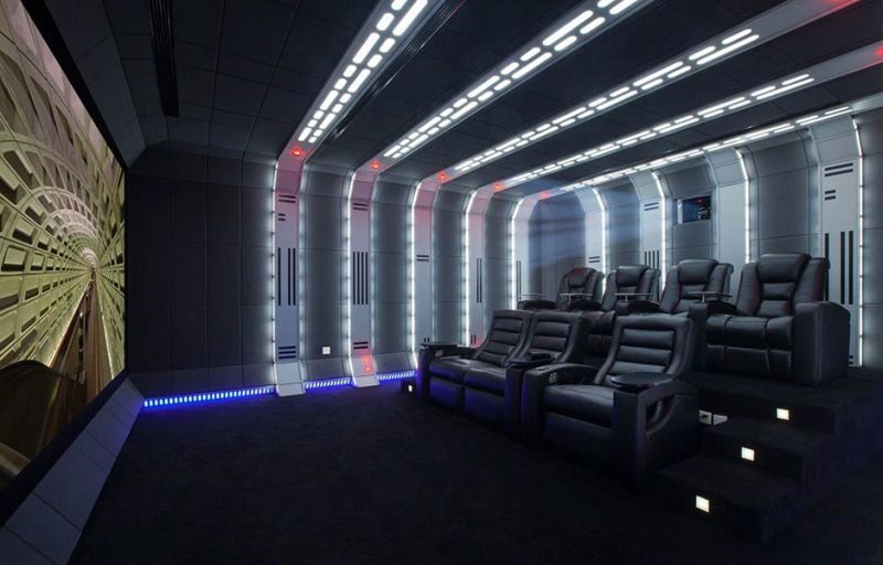 intergalactic franchise home theaters private cinema. Black Bedroom Furniture Sets. Home Design Ideas