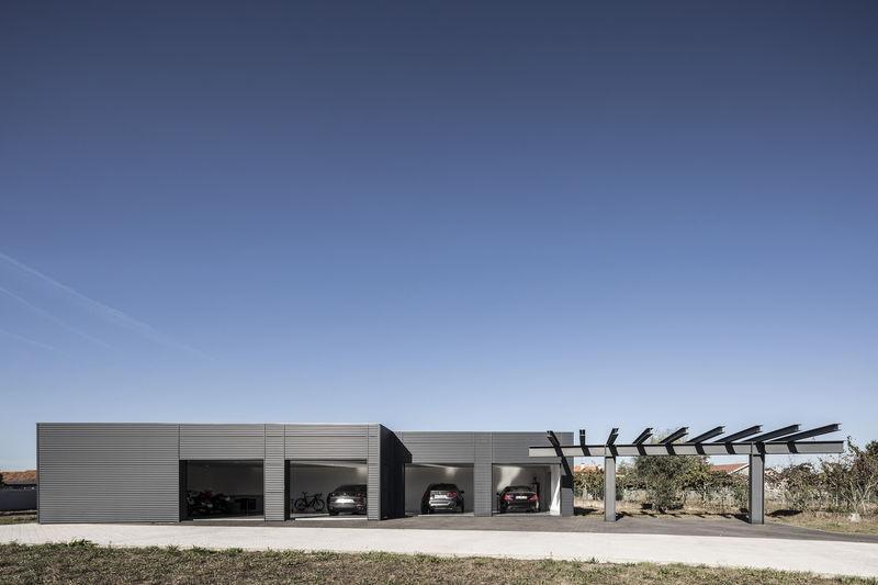 Raw Steel Garages