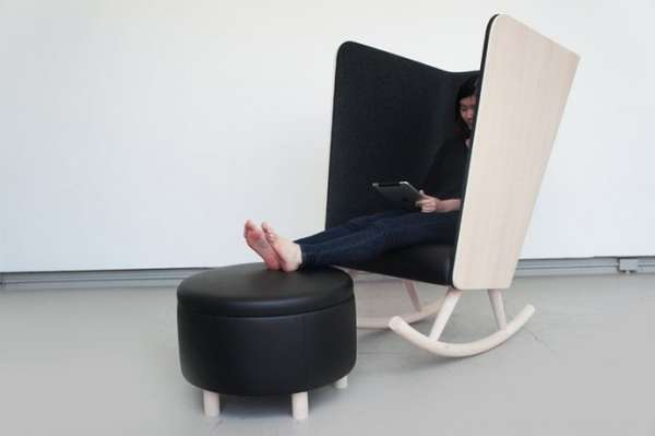 Concave Cocoon Chairs Private Rocker By Kyle Fleet