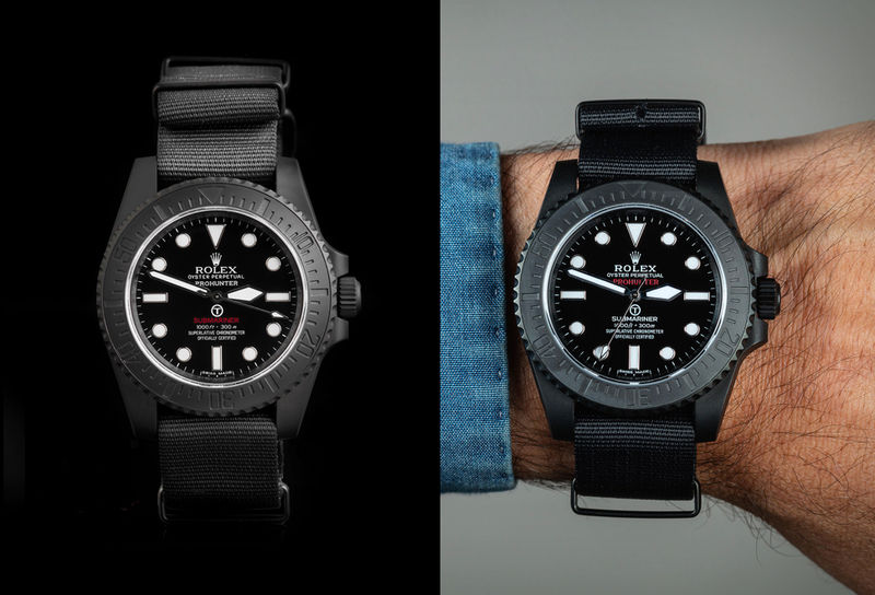 Limited-Edition Customized Timepieces - The Pro Hunter Stealth Military Submariner is Ruggedly Chic (TrendHunter.com)