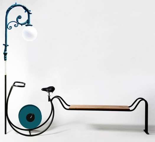 Pedal-Powered Lampposts
