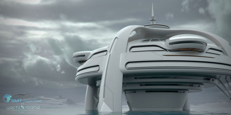 Futuristic Island Yachts
