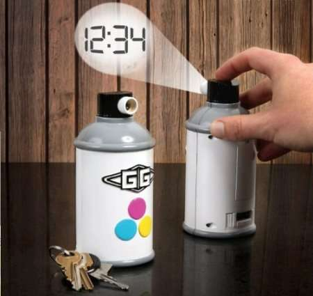 Spray Can Projection Clocks