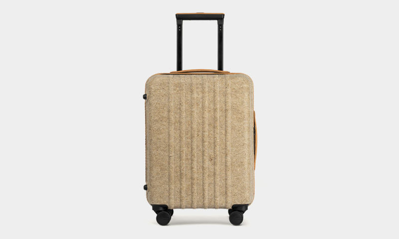 Natural Fiber Shell Suitcases