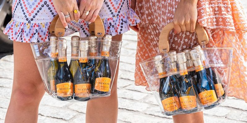 Prosecco-Filled Purses - Ruffino Prosecco Teamed Up with Stickbaby on a Prosecco Six-Pack Purse (TrendHunter.com)