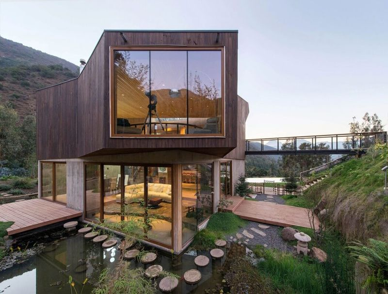 Abstract Eco Friendly Homes Protected Nature Reserve