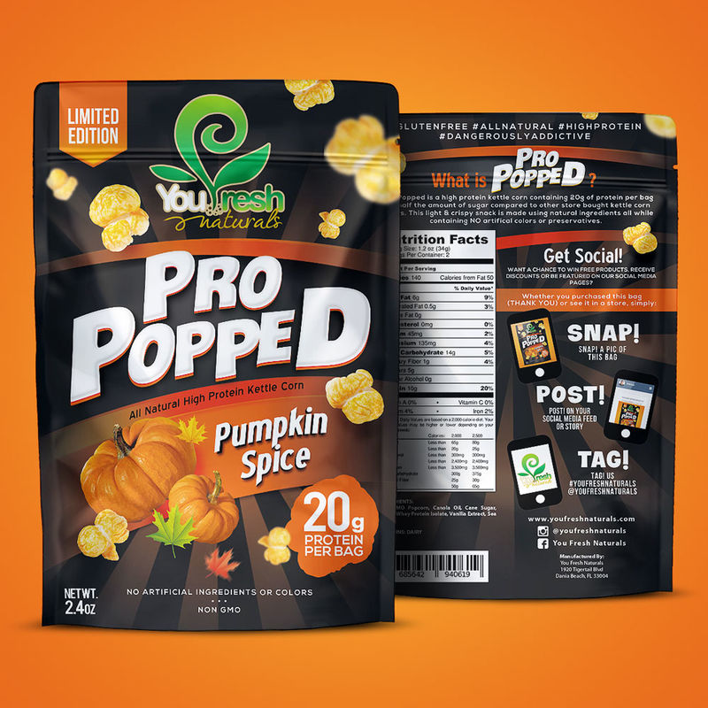 High-Protein Pumpkin Popcorn