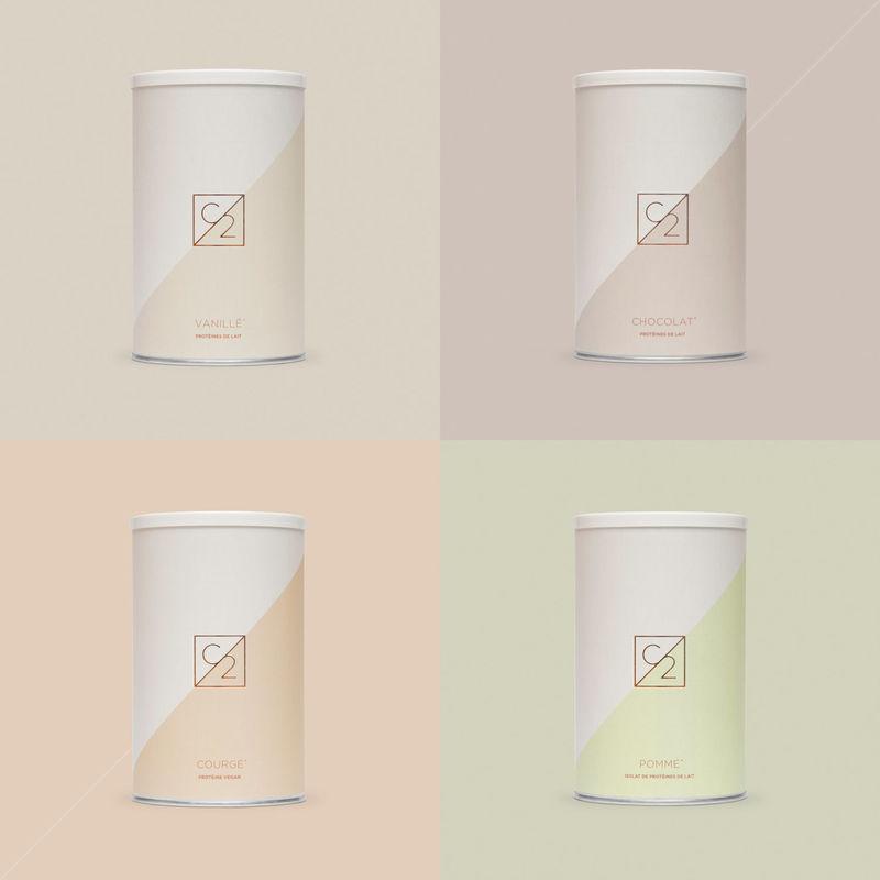 Elegant Protein Powder Packaging