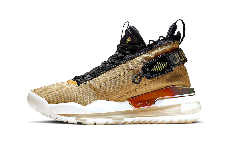 Golden Cushioned High-Top Sneakers