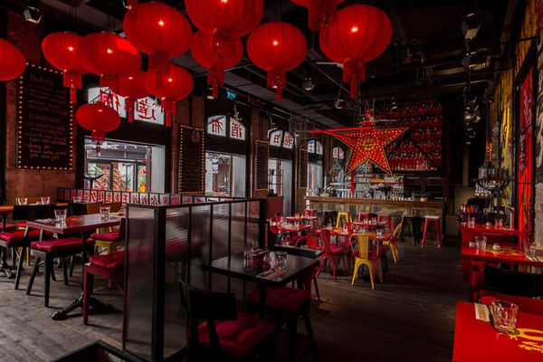 Industrial asian bar designs pub in budapest
