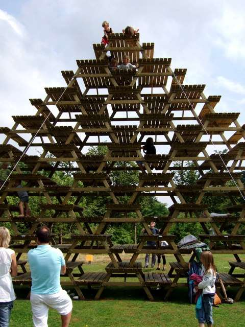 Picnic Table Pyramids