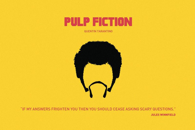 Minimalist Mobster Illustrations Pulp Fiction