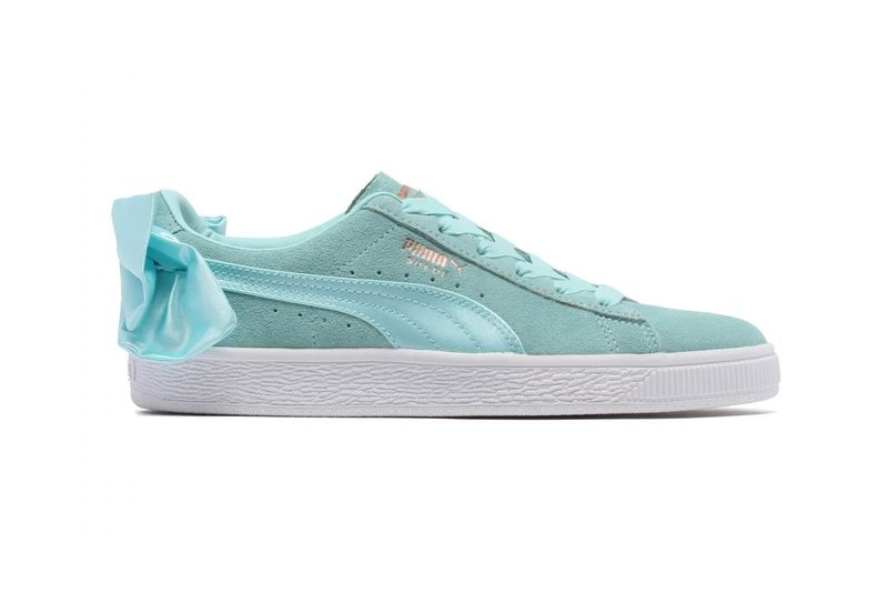 Aqua Bow-Accented Sneakers