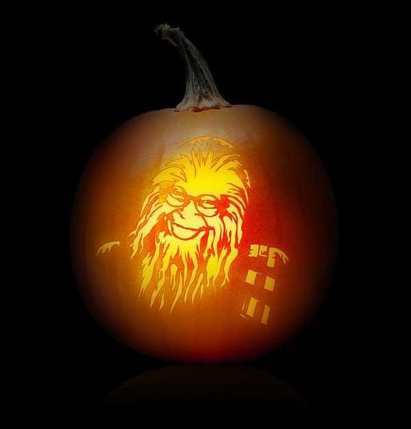 Mash-Up Gourd Guidelines : Pumpkim Jong-Il Pumpkin Stencils