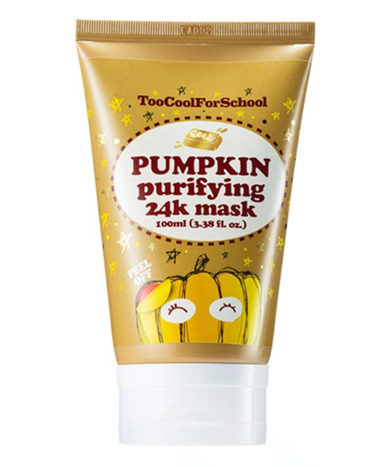 Golden Pumpkin Face Masks