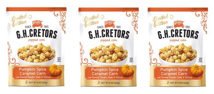 Pumpkin-Flavored Popcorn Snacks