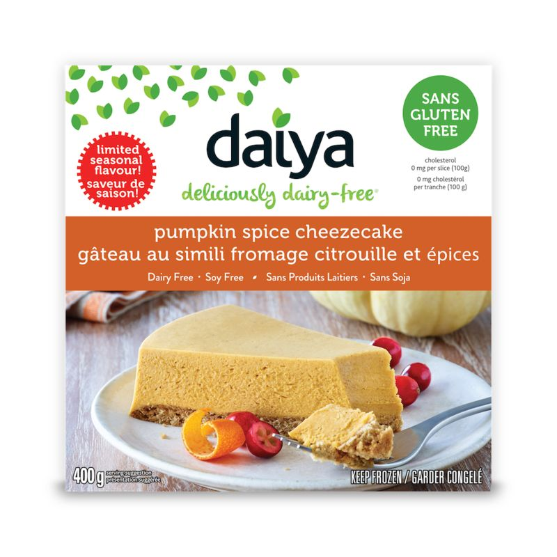 Non-Dairy Pumpkin Cheesecakes