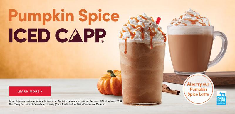 Pumpkin Spice Coffee Drinks