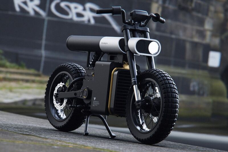 Stylishly Segmented Electric Motorcycles