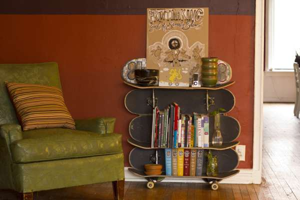 Skateboard Shelf extreme sport bookshelves : pure skateboard shelf