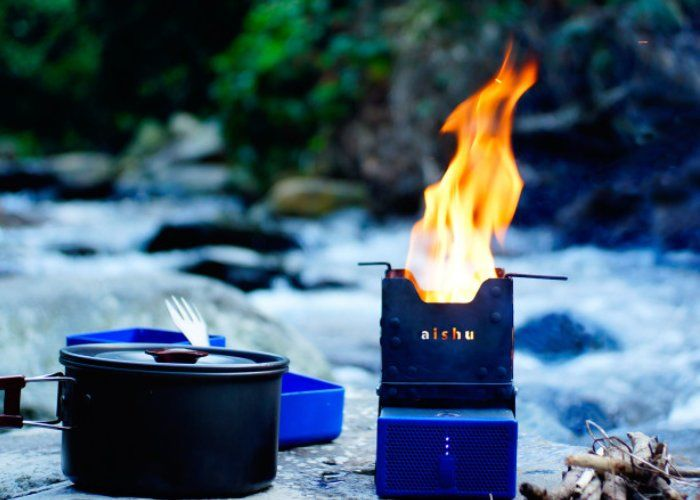 Electricity-Generating Camping Stoves