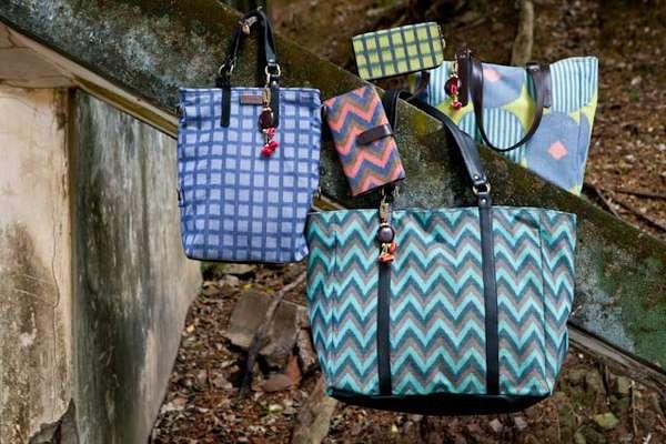 Hand-Dyed Ikat Handbags