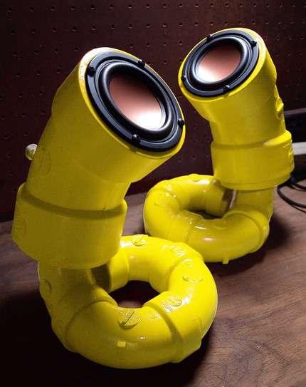 Plastic Piping Speakers