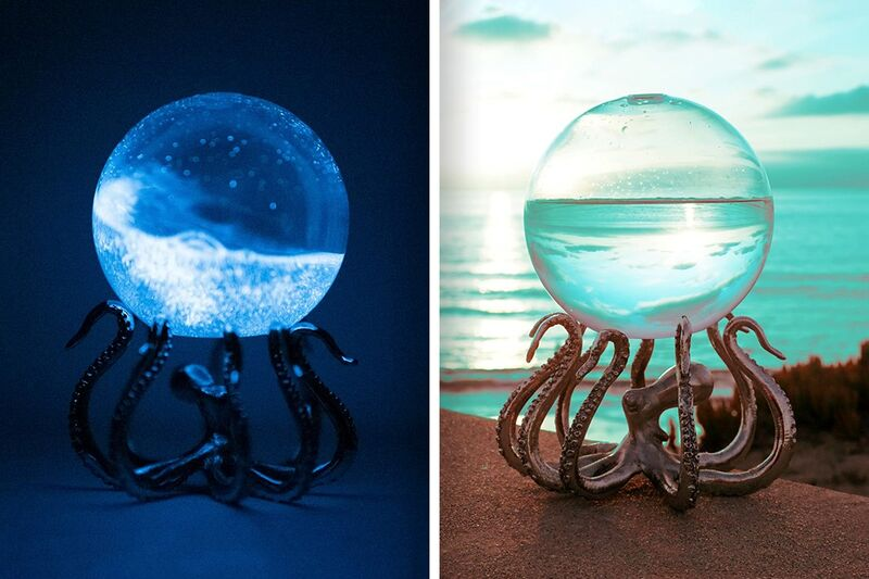 Bioluminescent Plankton-Filled Orbs