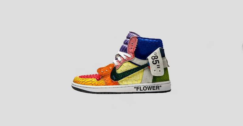 Multi-Colored Custom Python Sneakers