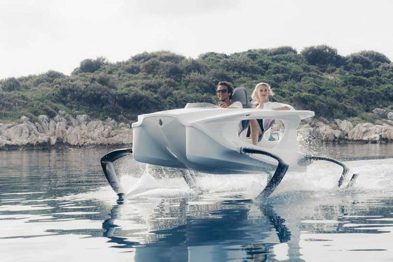 Gliding Electric Vessels