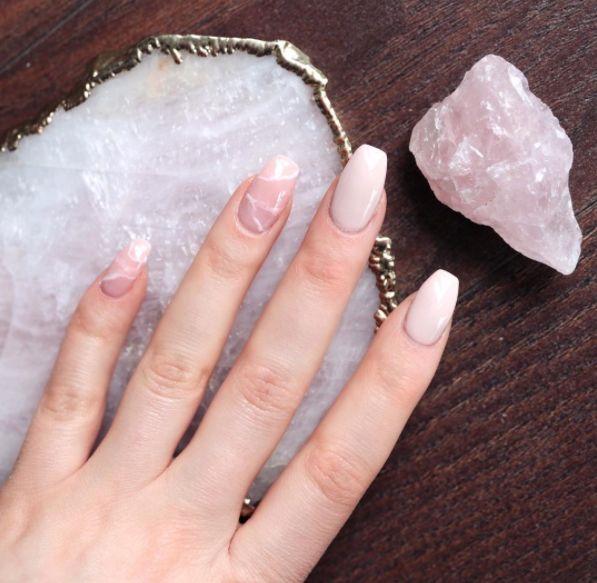 Rose Quartz Nail Designs