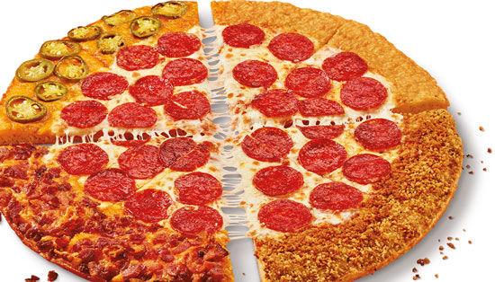 Quadruple Crust Pizzas