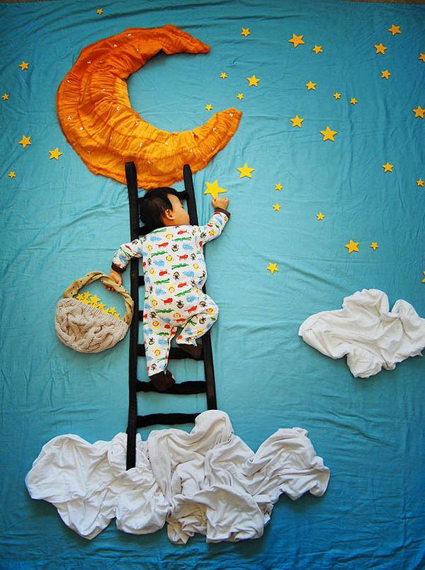 Adventurous Slumbering Baby Pics