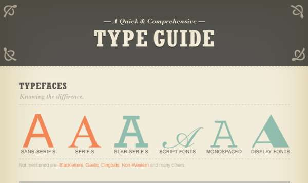 Tasteful Typography Infographics