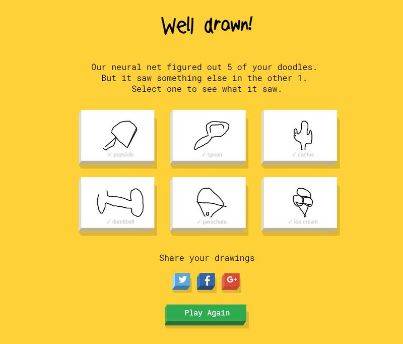 Neural Network Drawing Games Quick Draw