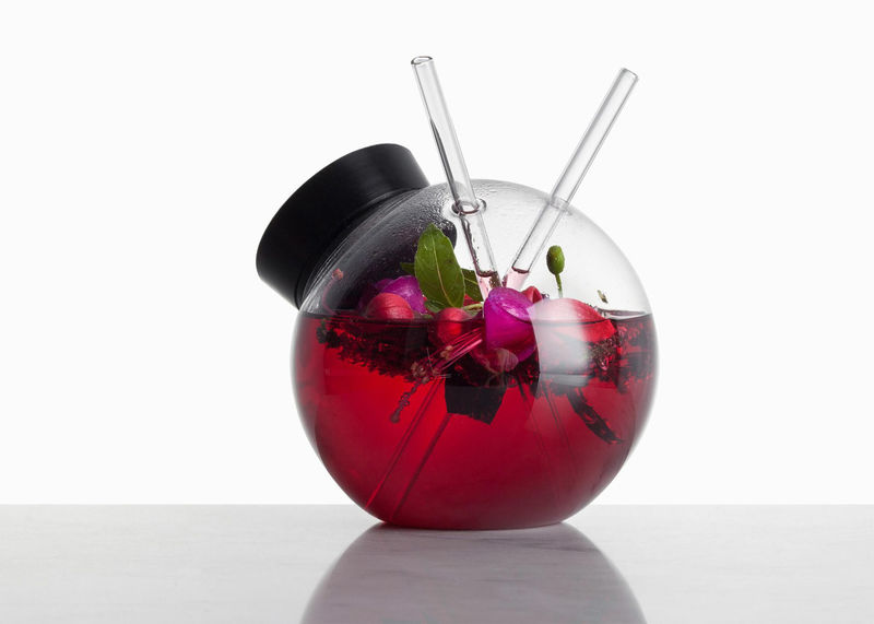 Spherical Cocktail Glasses