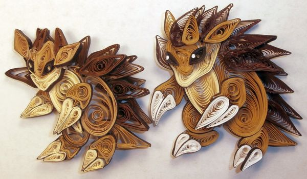quilled paper anime creatures quilled pokemon