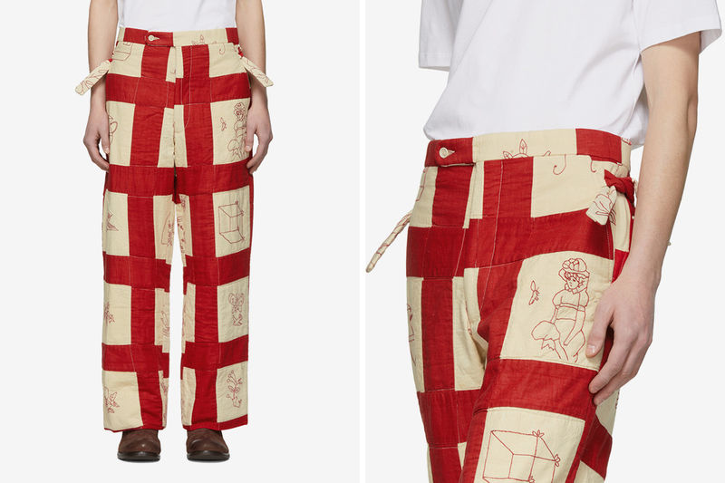 Intricately Patched Quilted Pants