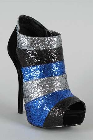 Sparkly Tri-Toned Heels