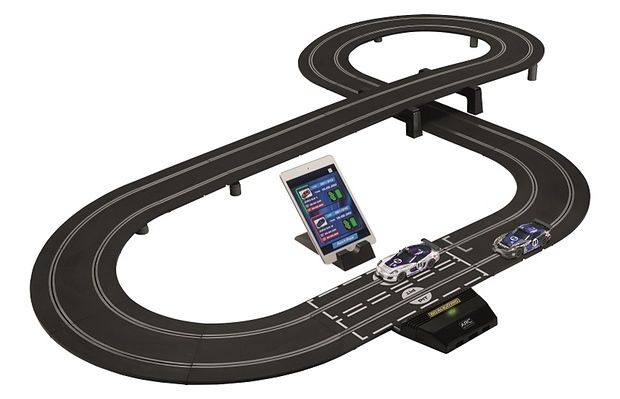 App-Connected Racetrack Toys : race car toy