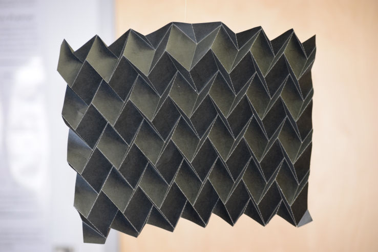 Origami-Inspired Space Radiators
