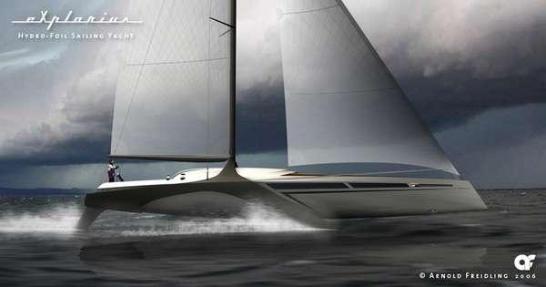 Hydrofoil Sailing Yacht Designs