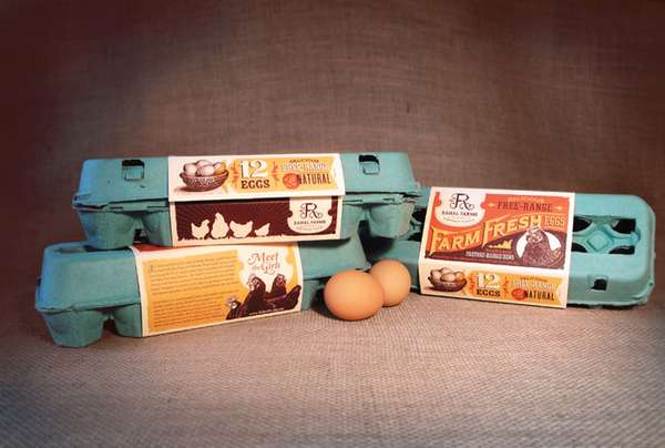Retro-Inspired Egg Packaging