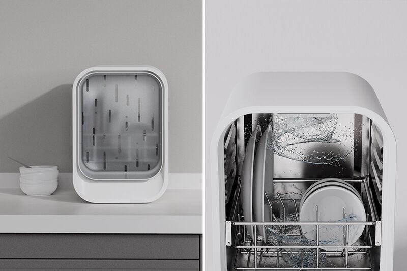 Space-Saving Desktop Dishwashers